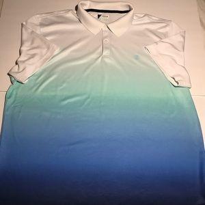 IZOD GOLF SHIRT BLUE HOMBRE MEN XL